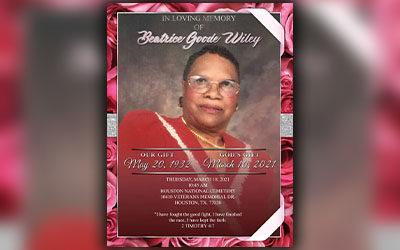 Beatrice Goode Wiley 1932 – 2021