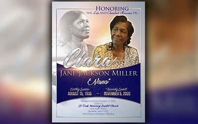 Clara Jane Jackson Miller 1936 – 2020