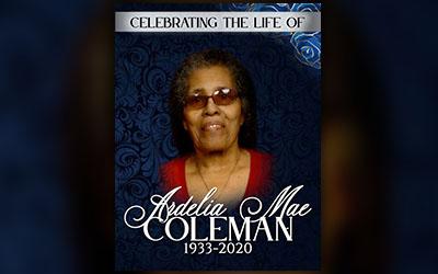 Ardelia Mae Coleman 1933-2020