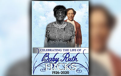 Baby Ruth Hicks 1926-2020