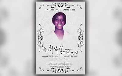 Mildred Louise Lathan 1936-2021