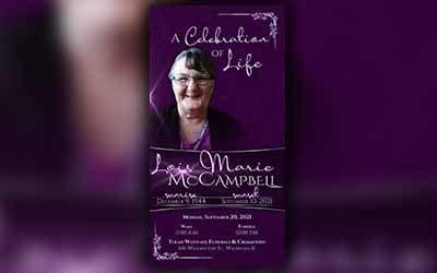 Lois Marie McCampbell 1944-2021