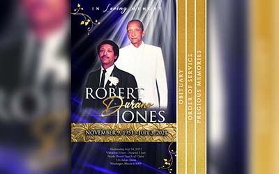 Robert Durano Jones 1951 – 2021