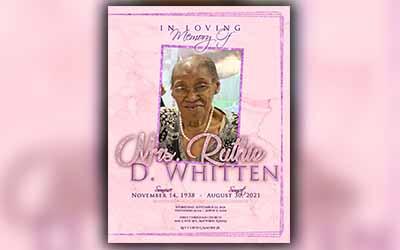 Ruthie D. Whitten 1938-2021