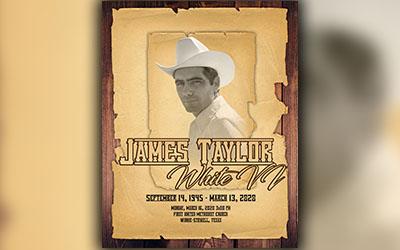 James Taylor White 1945-2020