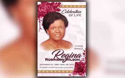 Regina Robinson Wilson 1960 – 2021