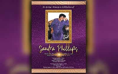 Sandra Phillips 1957 – 2021