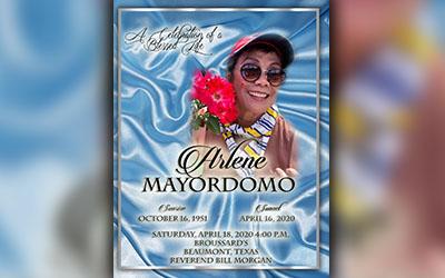Arlene Mayordomo 1951-2020