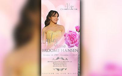 Lesly Jane Broome Hansen 1989-2019