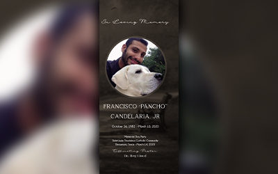 "Francisco ""Pancho"" Candelaria Jr. 1982-2020"