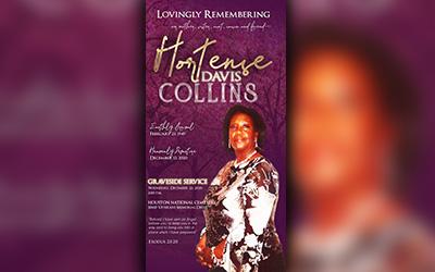 Hortense Davis Collins 1949 – 2020