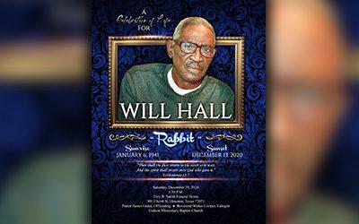 Will Hall 1941 – 2020