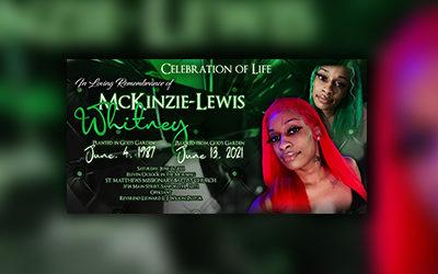 Whitney Mckinezie 1987-2021